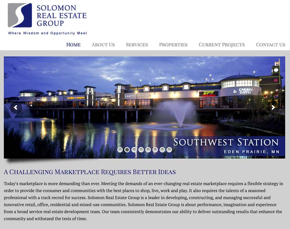 Solomon Real Estate Group Website
