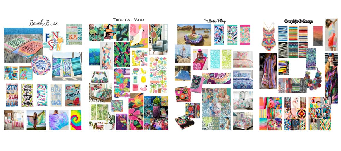 Beach Towel Trend Mood Boards